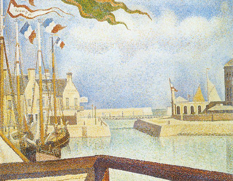 Georges Seurat Port en Bessin, Sunday Germany oil painting art