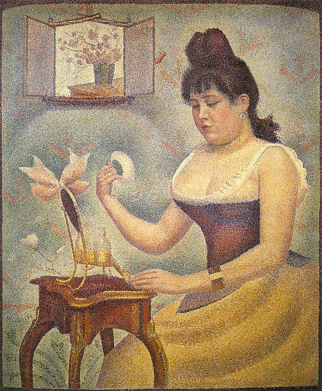 Georges Seurat Young Woman Powdering Herself Germany oil painting art
