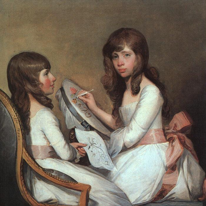 Gilbert Charles Stuart Miss Dick and her cousin Miss Forster Germany oil painting art