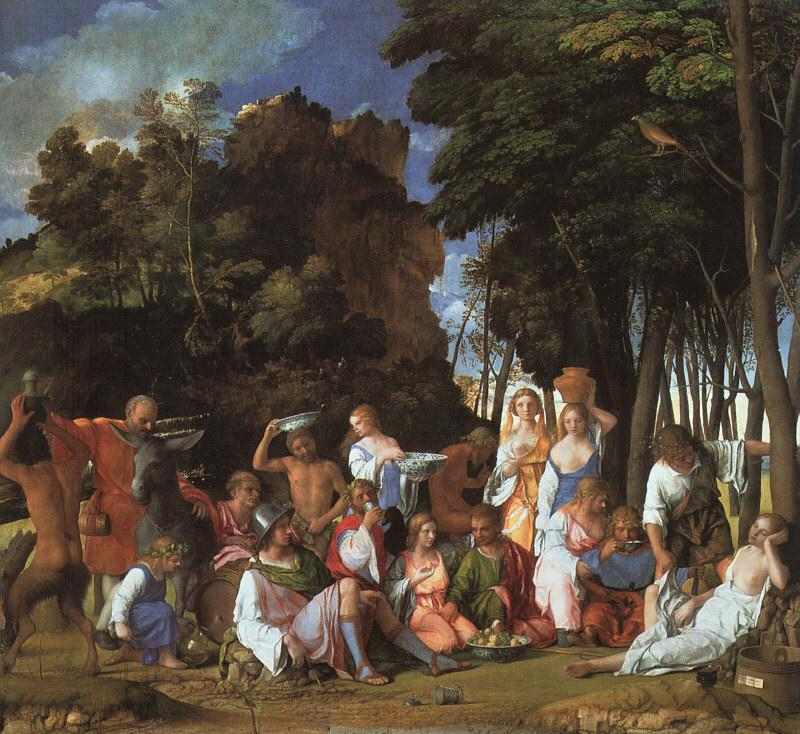 Giovanni Bellini Feast of the Gods oil painting image