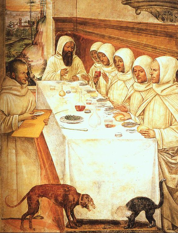 Giovanni Sodoma St.Benedict his Monks Eating in the Refectory Germany oil painting art