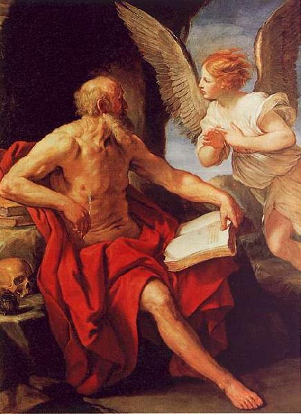 Guido Reni Saint Jerome and the Angel oil painting picture
