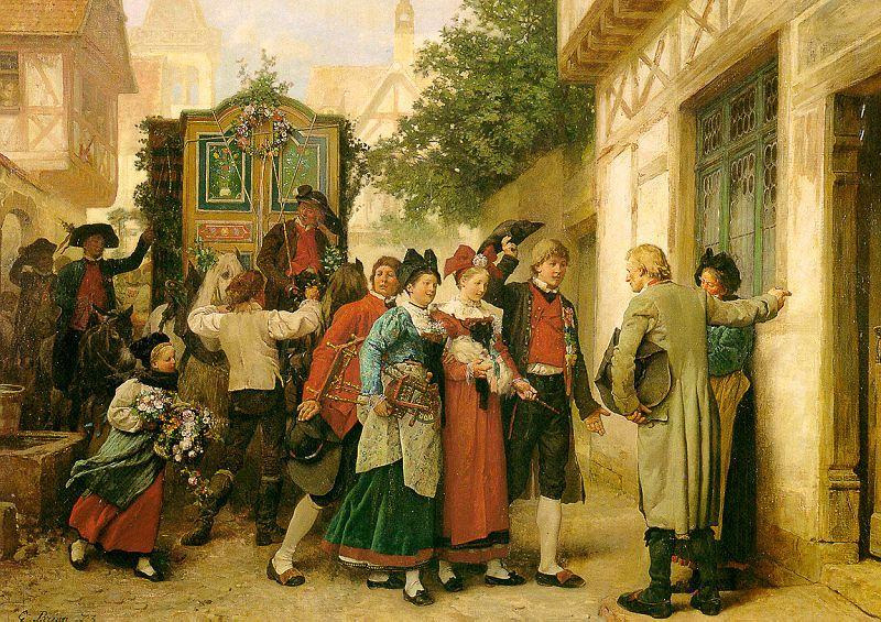 Gustave Brion Wedding Procession oil painting image