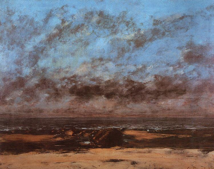 Gustave Courbet Low Tide known as Immensity oil painting image