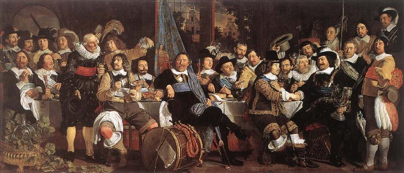 HELST, Bartholomeus van der Celebration of the Peace of Mnster, 1648, at the Crossbowmen s Headquarters oil painting image