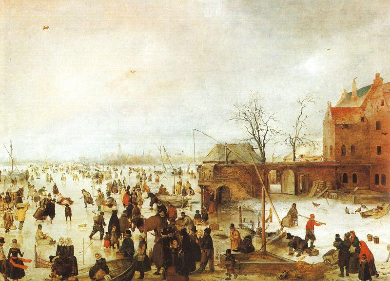 Hendrick Avercamp A Scene on the Ice near a Town Germany oil painting art