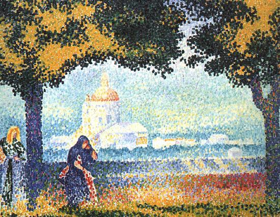 Henri Edmond Cross The Church of Santa Maria degli Angeli near Assisi oil painting image