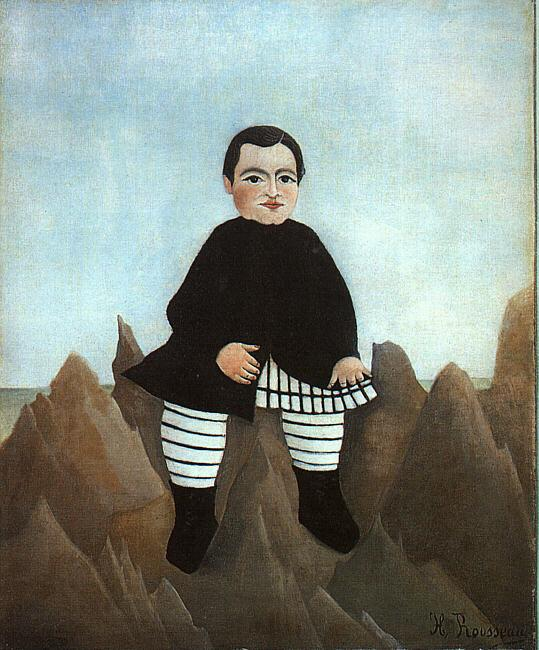 Henri Rousseau Boy on the Rocks Germany oil painting art
