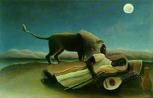 Henri Rousseau The Sleeping Gypsy Germany oil painting art