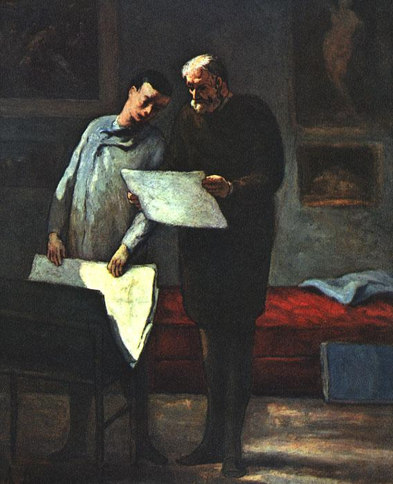 Honore  Daumier Advice to a Young Artist oil painting image