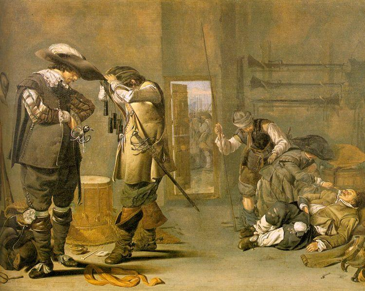 Jacob Duck Soldiers Arming Themselves oil painting image
