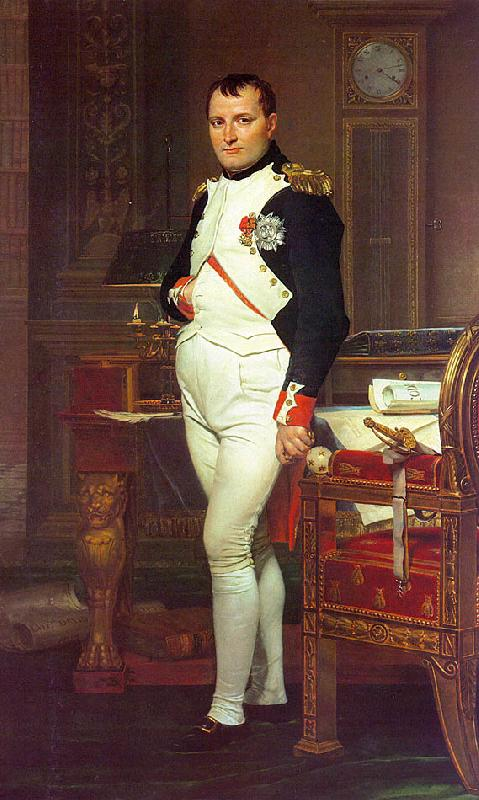 Jacques-Louis  David Napoleon in his Study oil painting image
