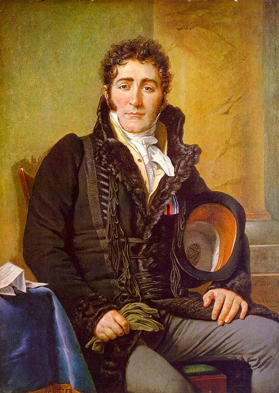 Jacques-Louis  David Portrait of the Count de Turenne oil painting image
