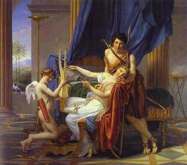 Jacques-Louis David Sappho and Phaon oil painting image