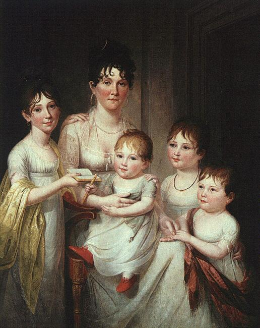 James Peale Madame Dubocq and her Children Germany oil painting art