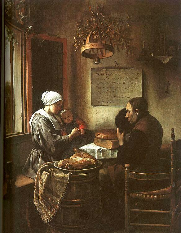 Jan Steen Grace Before a Meal Germany oil painting art
