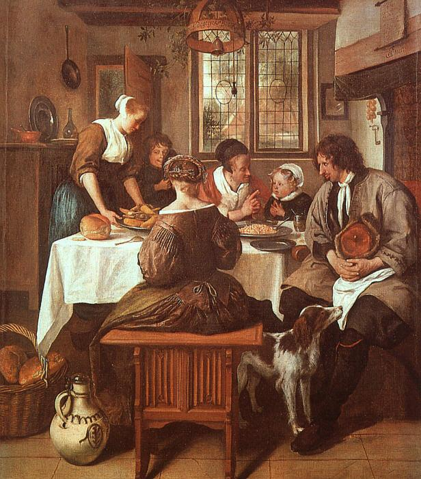 Jan Steen Grace Before Meat Germany oil painting art