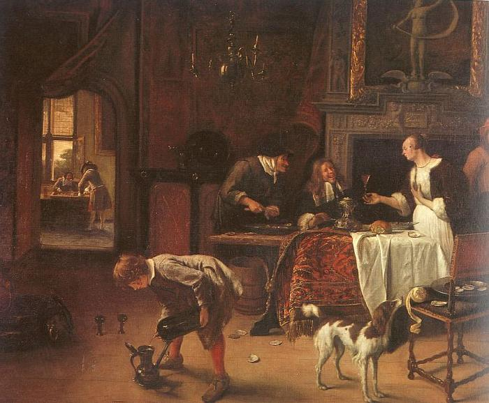 Jan Steen Easy Come, Easy Go Germany oil painting art