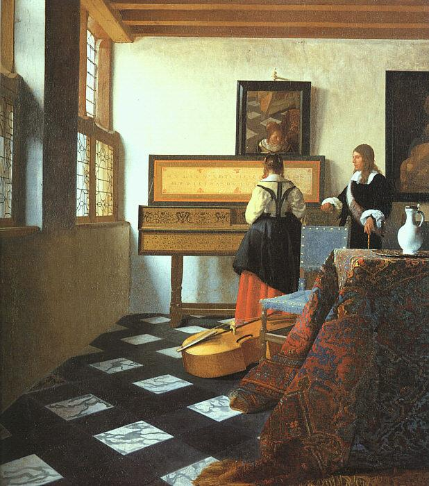 JanVermeer The Music Lesson-o oil painting image