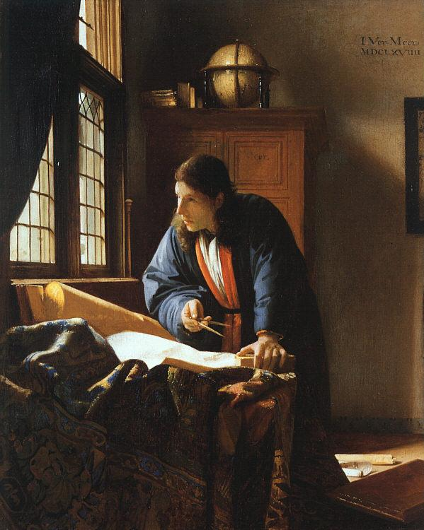 JanVermeer The Geographer oil painting image