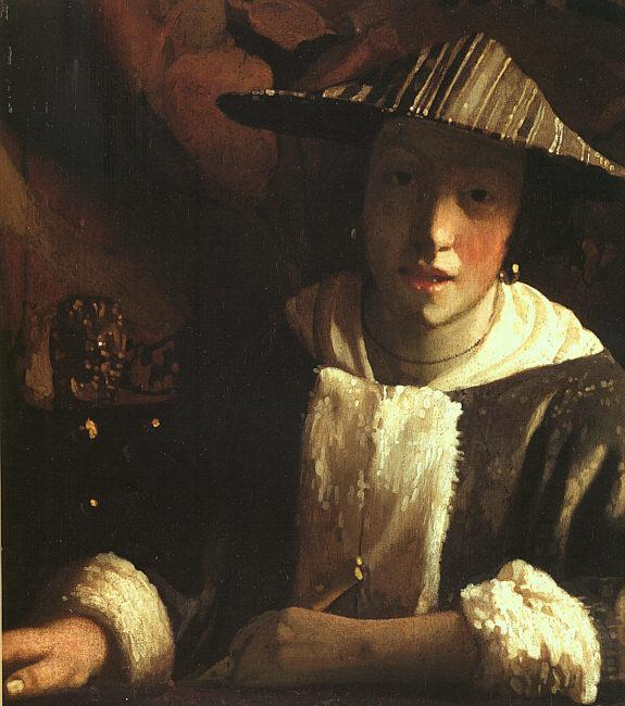 JanVermeer Young Girl with a Flute oil painting image