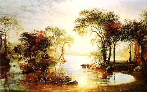 Jasper Cropsey Sunset Sailing Germany oil painting art