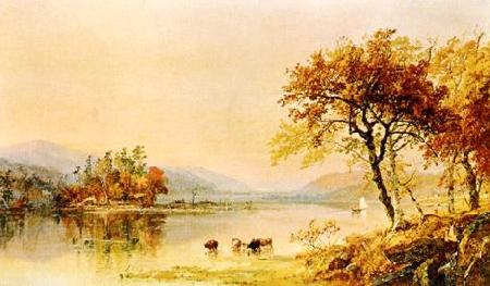 Jasper Cropsey River Isle Germany oil painting art