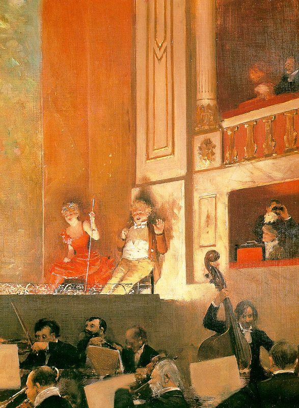 Jean Beraud Representation at the Theatre des Varietes oil painting image