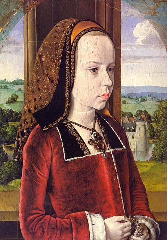 Jean Hey Portrait of Margaret of Austria oil painting image