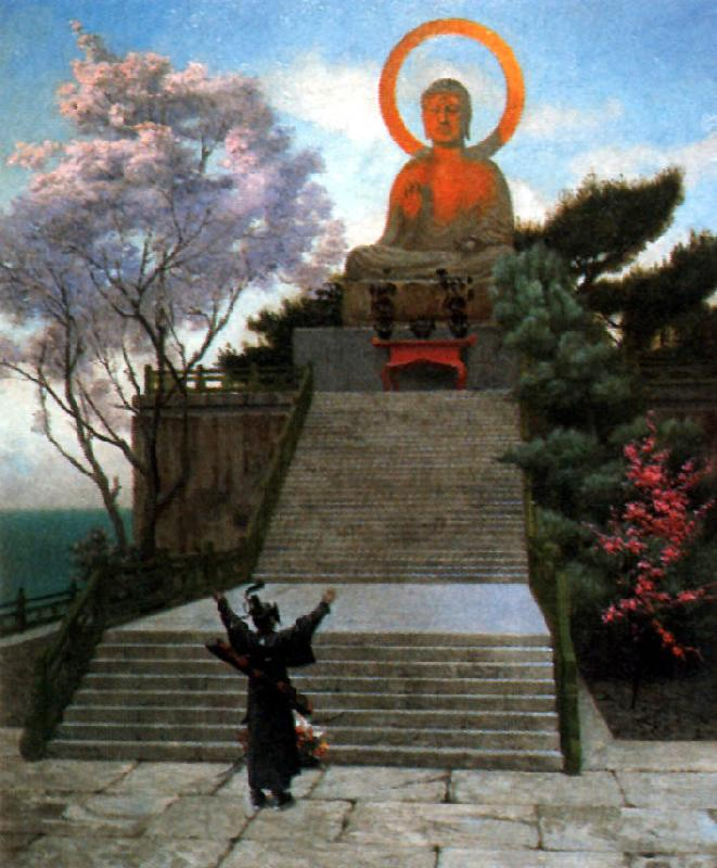 Jean Leon Gerome A Japanese Imploring a Divinity oil painting picture