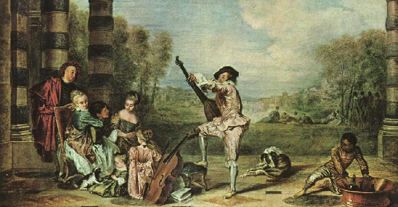Jean-Antoine Watteau The Music Party oil painting image