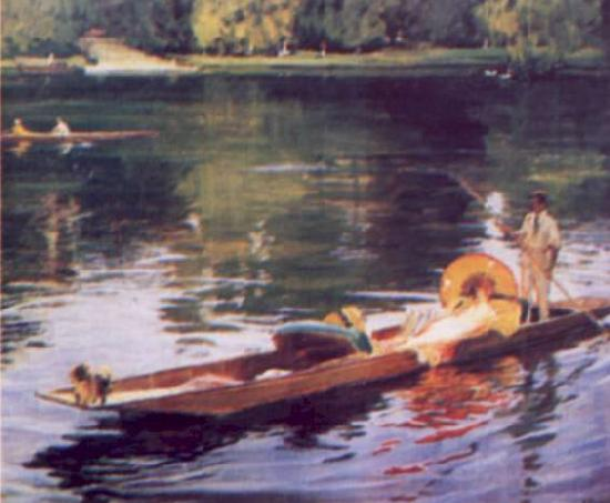 John Lavery The Thames at Maidenhead oil painting image