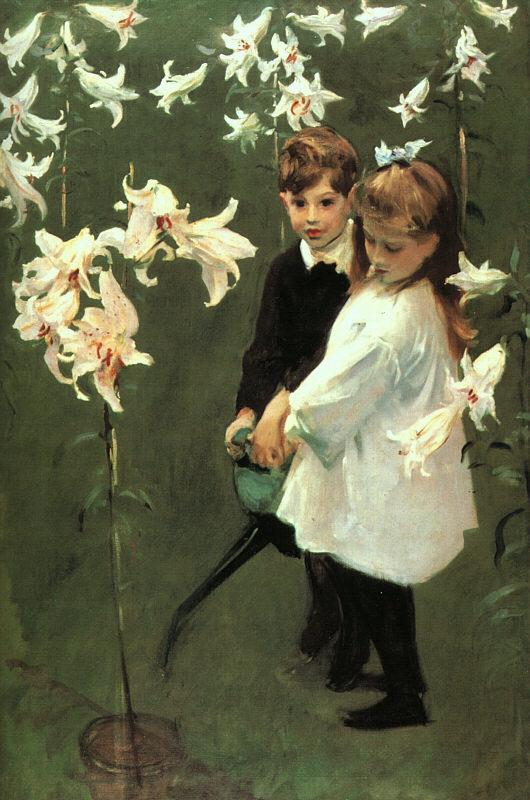 John Singer Sargent Garden Study of the Vickers Children Germany oil painting art