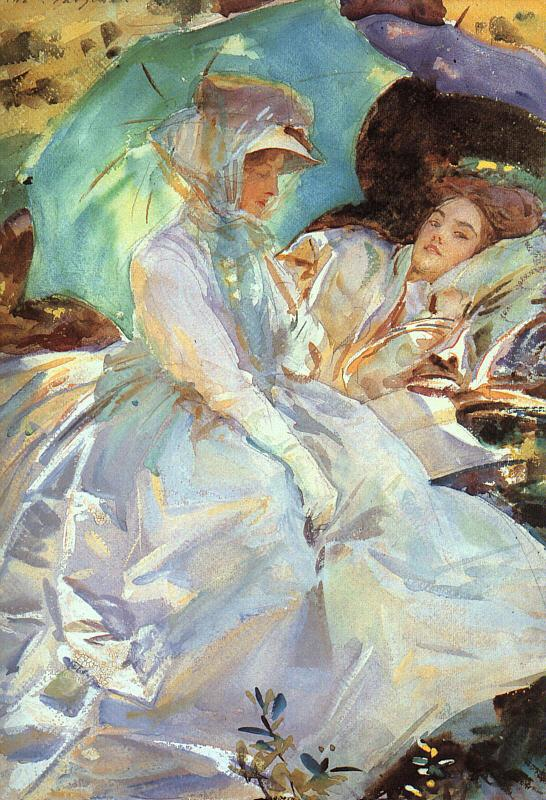 John Singer Sargent Reading oil painting image