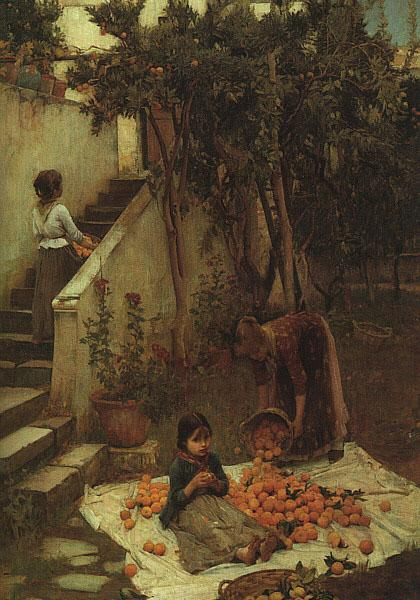John William Waterhouse The Orange Gatherers oil painting image