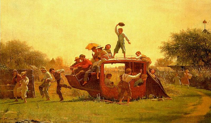Jonathan Eastman Johnson The Old Stagecoach Germany oil painting art