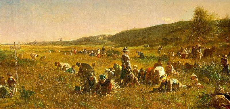 Jonathan Eastman Johnson The Cranberry Harvest on the Island of Nantucket Germany oil painting art