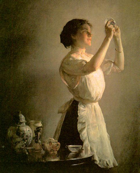 Joseph Decamp The Blue Cup Germany oil painting art