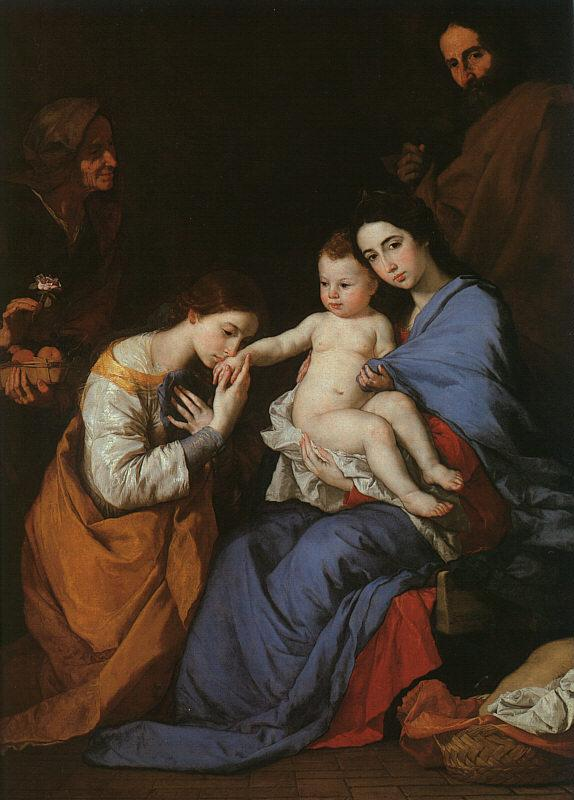 Jusepe de Ribera The Holy Family with Saints Anne Catherine of Alexandria Germany oil painting art