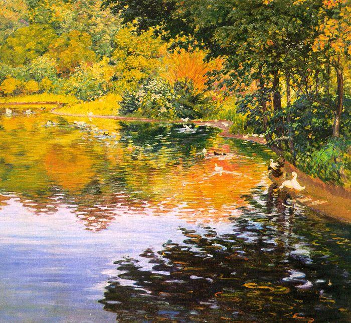 Kate Clark Mill Pond Germany oil painting art