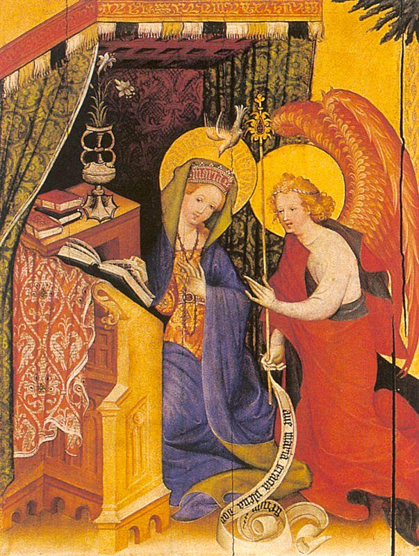 Konrad of Soest Annunciation oil painting image