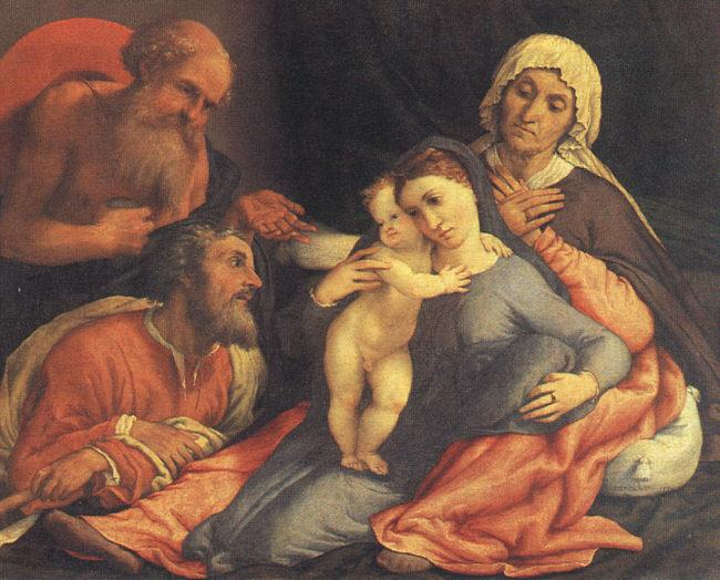 Lorenzo Lotto Madonna and Child with Saints oil painting image