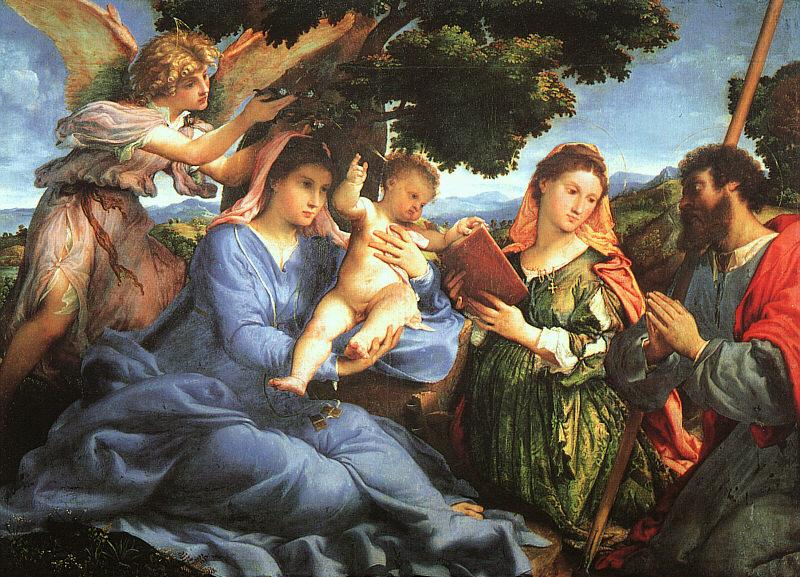 Lorenzo Lotto Madonna and Child with Saints Catherine and James oil painting image