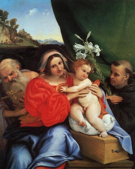 Lorenzo Lotto Virgin and Child with Saints Jerome and Anthony oil painting image
