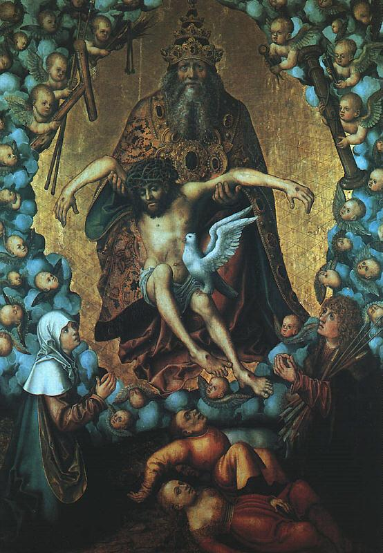 Lucas  Cranach The Trinity oil painting image