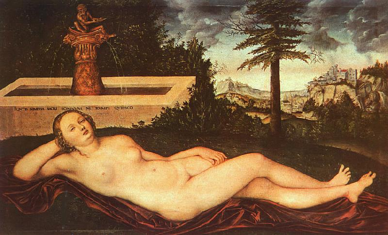 Lucas  Cranach Nymph of Spring oil painting image