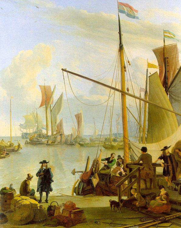 Ludolf Backhuysen The Y at Amsterdam viewed from Mussel Pier oil painting image