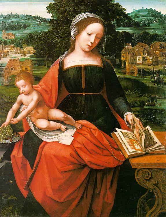 MASTER of Female Half-length Madonna and Child s oil painting image