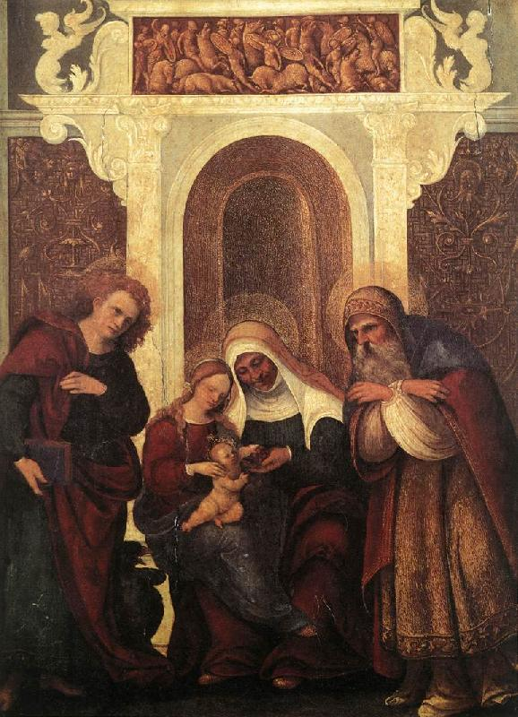 MAZZOLINO, Ludovico Madonna and Child with Saints gw oil painting image