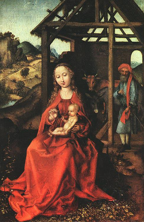 Martin Schongauer Nativity Germany oil painting art